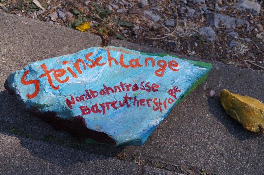 Kunstprojekt Steinschlange