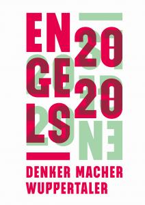 Logo von Engels 2020 mit dem Slogan Denker Macher Wuppertaler