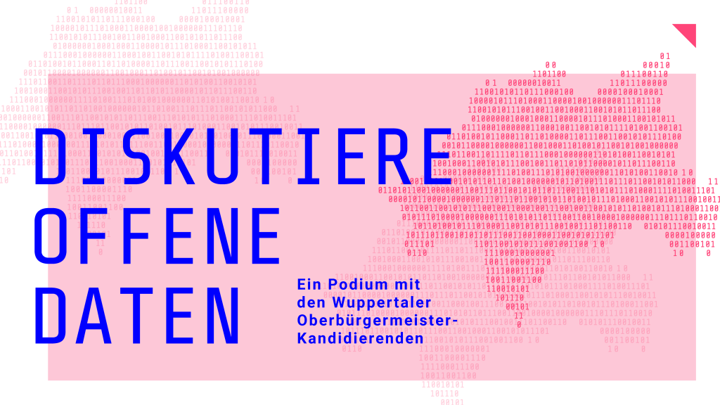 Diskutiere offene Daten – Ein Podium mit den Wuppertaler Oberbürgermeister-Kandidierenden