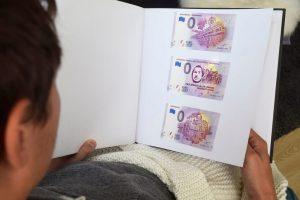 Ansicht der drei 0-Euro-Scheine es Bürgervereins Vohwinkel