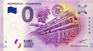 Frontansicht des Vohwinkeler 0-Euro-Scheins (Anniversary-Edition)