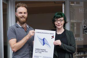 Daniel Rhefus und Meike Wilkens eröffnen die Verteilungsstelle Kunst